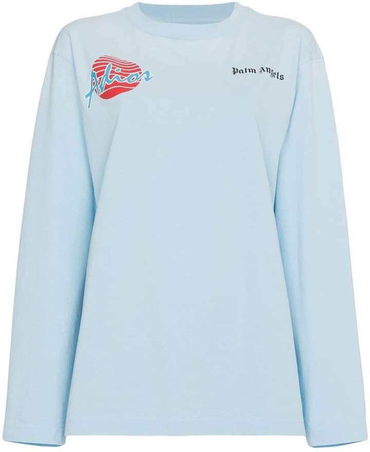Palm Angels Adios oversized long sleeve T-shirt