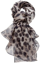Alexander McQueen leopard print scarf