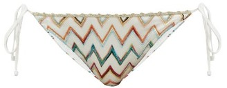 Missoni Mare - Metallic Zigzag-jacquard Triangle Bikini Briefs - White Multi