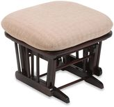Dutailier Wood Ottoman in Matrix Peeble Fabric/Cherry Wood