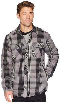 Dickies Modern Fit X-Series Snap Front Shirt Jacket (Smoke/Charcoal Plaid) Men's Coat