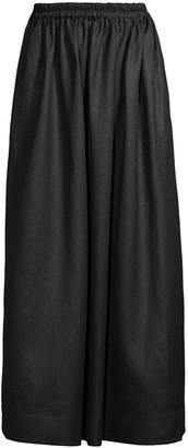 Matteau Gathered Linen-Blend Skirt