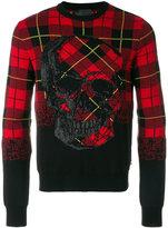 Philipp Plein tartan print sweater