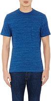 Officine Generale Men's Mélange T-Shirt-BLUE