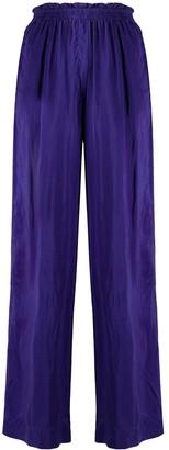 Forte Forte Wide-Leg Silk Trousers