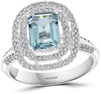 Effy 14K 1.79 Ct. Tw. Diamond & Aquamarine Ring