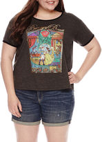 Fifth Sun Beauty and the Beast Graphic T-Shirt- Juniors Plus