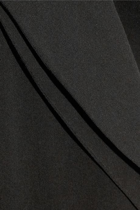 Halston Wrap-effect gabardine jumpsuit