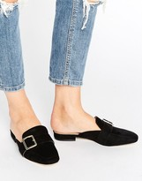 London Rebel Buckle Mule Shoe