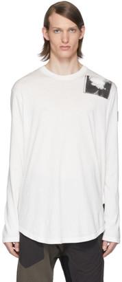 Julius White Patch Print Long Sleeve T-Shirt