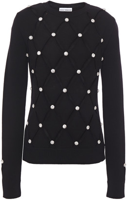 Paco Rabanne Crystal-embellished Cutout Merino Wool Sweater