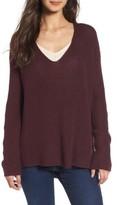 Hinge Women's Button Back V-Neck Sweater