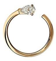 Repossi Serti Sur Vide 18K Rose Gold & Diamond Single Left Hoop Earring