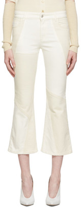 Alexander McQueen Off-White Patchwork Flared Jeans