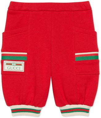 Gucci Baby cotton trousers with Web