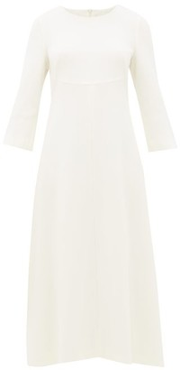 Goat Happy Wool-crepe Midi Dress - Womens - Ivory