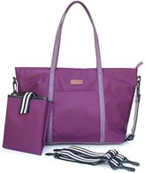 YJ Collection Diaper Bag with Shoulder-to-Stroller Straps and Waterproofing Changing Mat