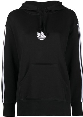 adidas Trefoil-Embroidered Cotton Hoodie