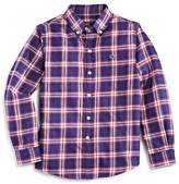 Vineyard Vines Boys' Silver Peak Plaid Flannel Whale Shirt - Little Kid, Big Kid