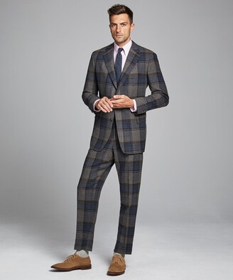 Todd Snyder Oversized Check Sack Suit Coat in Charcoal