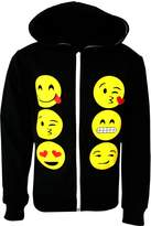 Ael Kids Emoji Emoticons Smiley Faces Long Sleeve Hoodies Tops Girls Age New 5-13 Y
