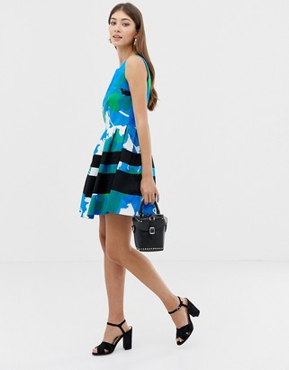 Closet London Closet Full Skirt Contrast Band Dress