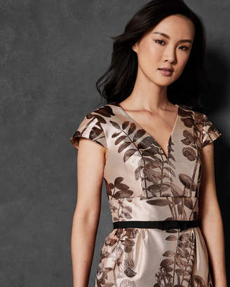 Ted Baker KESSA Jacquard metallic maxi dress