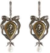 Alexander McQueen Skull And Ribbon Earrings