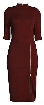 Alice + Olivia Women's Inka Zip Slit Sheath Dress