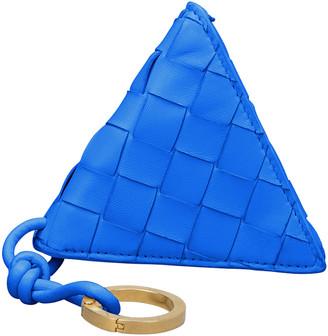 Bottega Veneta Triangle Napa Coin Purse Key Chain