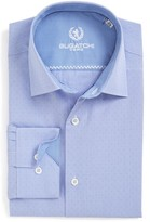Bugatchi Men's Trim Fit Dot Dress Shirt