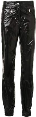 Chanel Pre-Owned glossy effect drawstring trousers