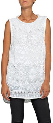 Replay Embroidered Chiffon Top