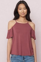 Garage Sport Neck Swing Cold Shoulder Top