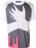 Junya Watanabe Comme Des Garçons Man - hand print T-shirt - men - Cotton/Rayon - S