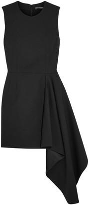 Alexander McQueen Asymmetric Wool-blend Mini Dress