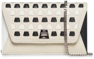 Akris Resort Anouk Colorblock Patchwork Leather Crossbody Bag