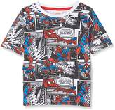 Marvel Boy's Spiderman - Comic - Kids T - Multi Hoodies,(Manufacturer Size:Small)