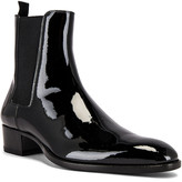 Saint Laurent Leather Boots in Black | FWRD