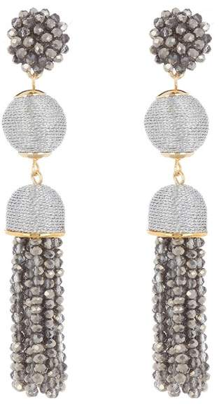 BaubleBar Faceted Ball Drop Tassel Earrings