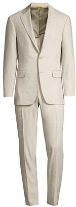 Canali Solid Linen-Blend Suit