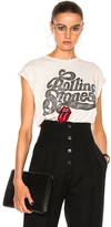 Madeworn Rolling Stones Patch Tee in White.