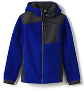Classic Little Boys Bonded Full Zip-Vibrant Fern/Dark Asphalt