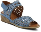 Spring Step Adjustable Leather Wedge Sandals -Petra