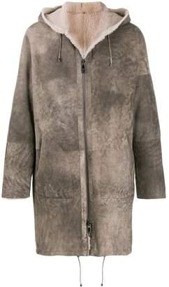 Giorgio Brato hooded shearling coat