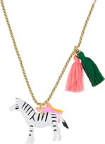 Little Lux Zoe The Zebra Charm Necklace