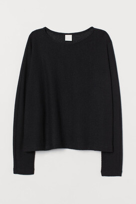 H&M Dolman-sleeved Top - Black