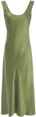 Iris & Ink Abigail Washed-silk Slip Dress