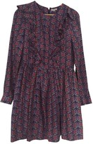 Manoush Purple Silk Dress for Women