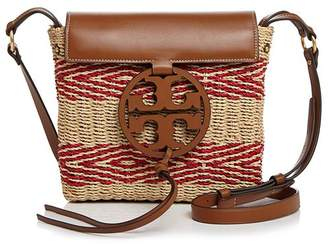 Tory Burch Miller Striped Straw Crossbody